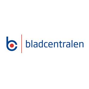 Logo Bladcentralen. Grafikk.