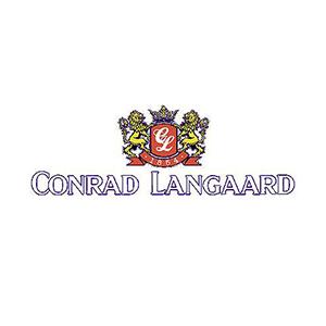 Logo Conrad Langaard. Grafikk.