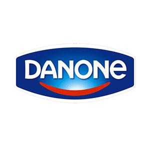 Logo Danone. Grafikk.