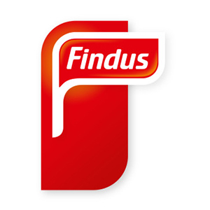 Logo Findus. Grafikk.