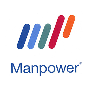 Logo Manpower. Grafikk.