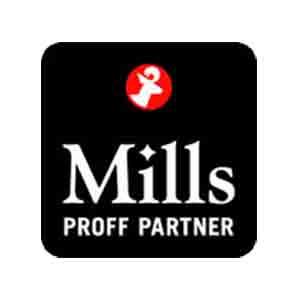Logo Mills Proffpartner. Grafikk.