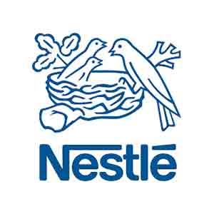Logo Nestlé. Grafikk.