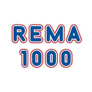 Logo Rema 1000. Grafikk.
