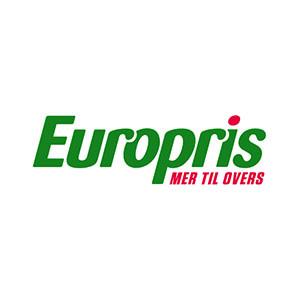 Logo Europris. Grafikk.