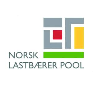 Logo NLP Norsk Lastbærer Pool. Grafikk.