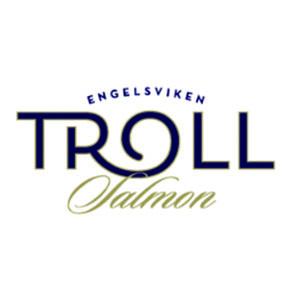 Logo Troll Salmon Engelsviken. Grafikk.
