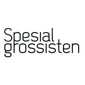 Logo Spesialgrossisten. Grafikk.