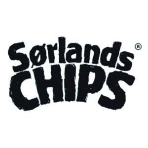 Logo Sørlandschips. Grafikk.